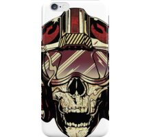 HD Xwing fighter pilot Skull Sticker iPhone Case/Skin
