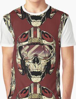HD Xwing fighter pilot Skull Sticker Graphic T-Shirt