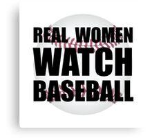 Real Women Baseball Canvas Print