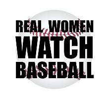 Real Women Baseball Photographic Print