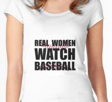 Real Women Baseball Women's Fitted Scoop T-Shirt