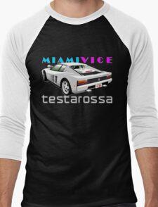 Ferrari Testarossa from Miami Vice Men's Baseball ¾ T-Shirt