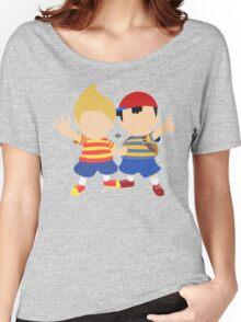 Ness & Lucas (Blue) - Super Smash Bros. Women's Relaxed Fit T-Shirt