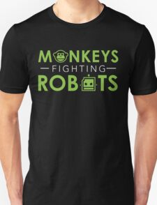 Monkeys Fighting Robots Original  T-Shirt