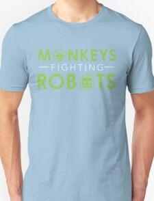 Monkeys Fighting Robots Original  T-Shirt