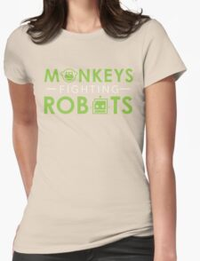 Monkeys Fighting Robots Original  Womens Fitted T-Shirt