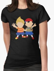 Ness & Lucas (Black) - Super Smash Bros. [Requested] Womens Fitted T-Shirt