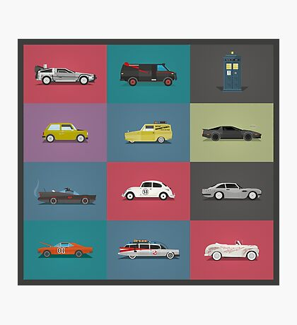 Iconic Cars - Collection - Square Photographic Print