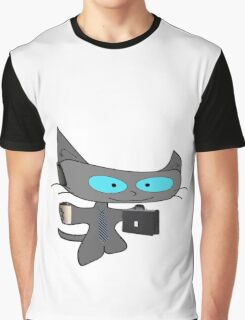 Cat Ready For Business  Graphic T-Shirt