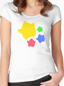Lumas (Yellow, Red, Blue, Green) Women's Fitted Scoop T-Shirt