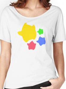 Lumas (Yellow, Red, Blue, Green) Women's Relaxed Fit T-Shirt