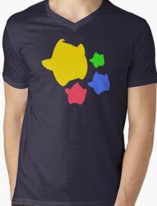 Lumas (Yellow, Red, Blue, Green) Mens V-Neck T-Shirt