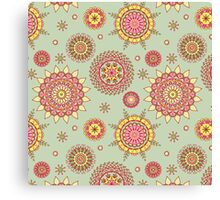 Flower Mandalas Canvas Print