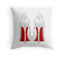 Louboutin heels in Geometric Geometry Triangle Throw Pillow