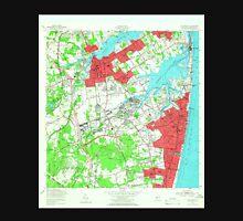 USGS TOPO Map New Jersey NJ Long Branch 254537 1954 24000 Unisex T-Shirt