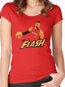 "Dwyane ""The Flash"" Wade Women's Fitted Scoop T-Shirt"