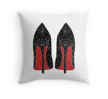 Louboutin heels in Geometric Geometry Triangle Black Throw Pillow