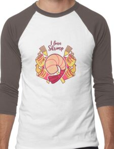 I Love Shrimp Men's Baseball ¾ T-Shirt