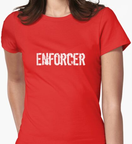 Enforcer Ice Hockey TShirt Womens Fitted T-Shirt