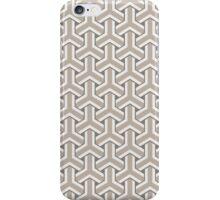 Beige Goyard geometric Style iPhone Case/Skin