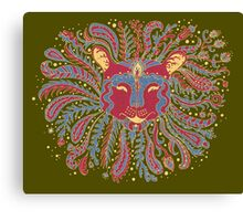 Paisley Lion Canvas Print