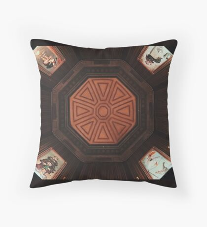 Haunted Gallery Throw Pillow