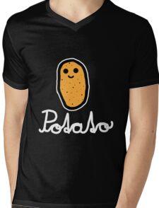 Potato (White) Mens V-Neck T-Shirt