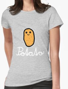 Potato (White) Womens Fitted T-Shirt