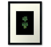 Smoke Mid Framed Print