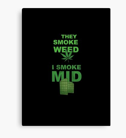 Smoke Mid Canvas Print