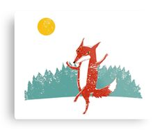 Fox dance  Metal Print