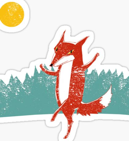 Fox dance  Sticker