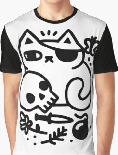 Badass Cat Graphic T-Shirt