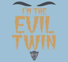 I'm the EVIL TWIN funny Halloween costume Kids Tee