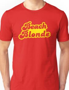 Beach blonde in yellow Unisex T-Shirt