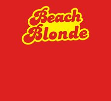 Beach blonde in yellow Womens Fitted T-Shirt