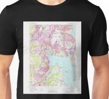 USGS TOPO Map Rhode Island RI East Greenwich 353283 1957 24000 Unisex T-Shirt