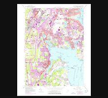 USGS TOPO Map Rhode Island RI East Greenwich 353283 1957 24000 T-Shirt