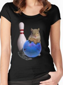 Bowling Squirrel Women's Fitted Scoop T-Shirt