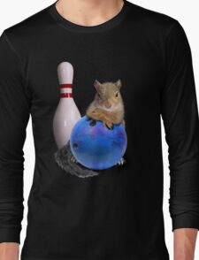 Bowling Squirrel Long Sleeve T-Shirt