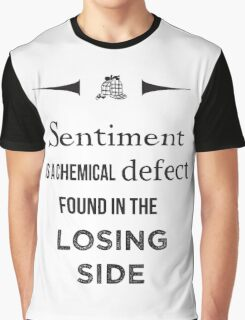 Sherlock Holmes sentiment quote [black and white] Graphic T-Shirt