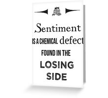 Sherlock Holmes sentiment quote [black and white] Greeting Card