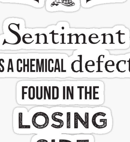Sherlock Holmes sentiment quote [black and white] Sticker