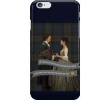 Outlander/Jamie & Claire Fraser Wedding Vow iPhone Case/Skin
