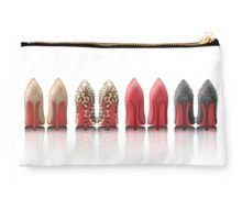 My Louboutin Collection : Black Spiked Leopard Red Nude Studio Pouch