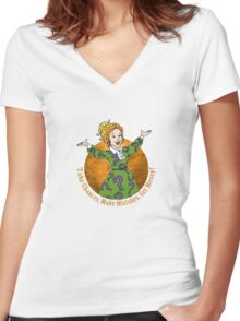 With The Frizz? Women's Fitted V-Neck T-Shirt