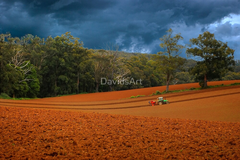 0701 Working the Fields by DavidsArt