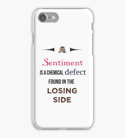 Sherlock Holmes sentiment quote [colored] iPhone Case/Skin