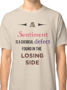Sherlock Holmes sentiment quote [colored] Classic T-Shirt