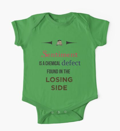 Sherlock Holmes sentiment quote [colored] One Piece - Short Sleeve